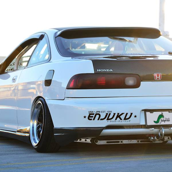 Enjuku Racing Banner v1 Nissan Silvia Toyota Mazda Honda Logo Racing Event Stance Low Tuning Strip JDM Low Vinyl Decal