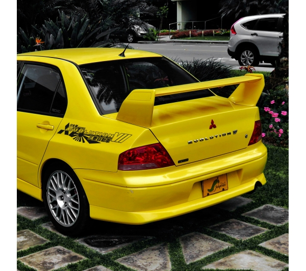 2x Pair Side Mitsubishi v7 VII 7 Logo Lancer Evo 三菱 自動車 JDM Japan Made Rising Sun Evolution GT-A RS GSR MR MIVEC DOHC Car Vinyl Sticker Decal