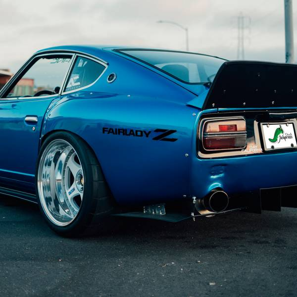 2x Pair Fairlady Z Nissan Datsun Banner Logo Racing Event Stance Low Tuning Strip JDM Low Vinyl Decal