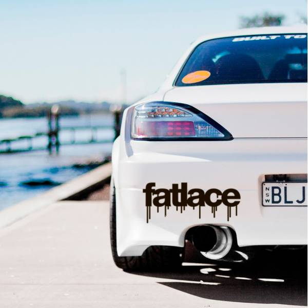 Fatlace v2 Event Stance Low Hellaflash Royal Banner Culture Dope JDM Sticker Decal