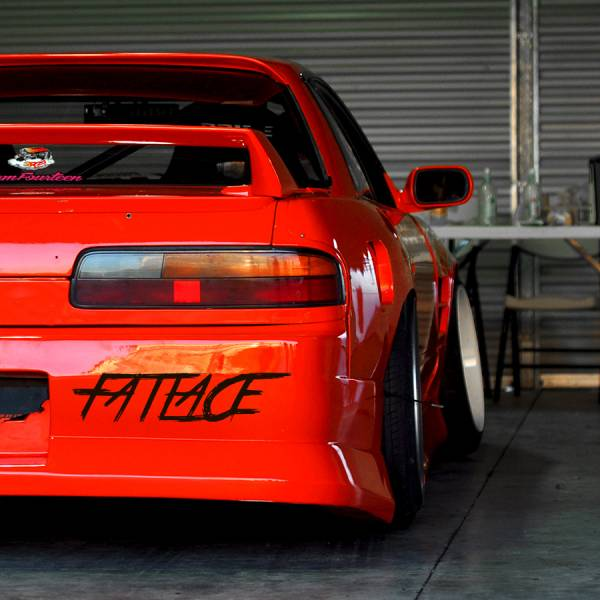 Fatlace v6 Event Stance Low Hellaflash Royal Banner Culture Dope JDM Sticker Decal