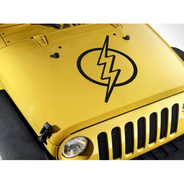 Hood Flash  v2 Lightning Barry Allen Sign  Superhero Comic Car Vinyl Sticker Decal >