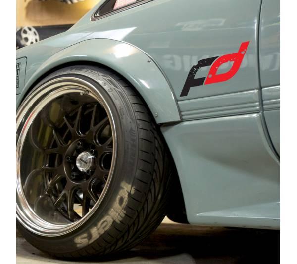 Formula Drift v3 Logo Lowered Stance Low Slammed  JDM Racing Turbo Car Vinyl Sticker Decal