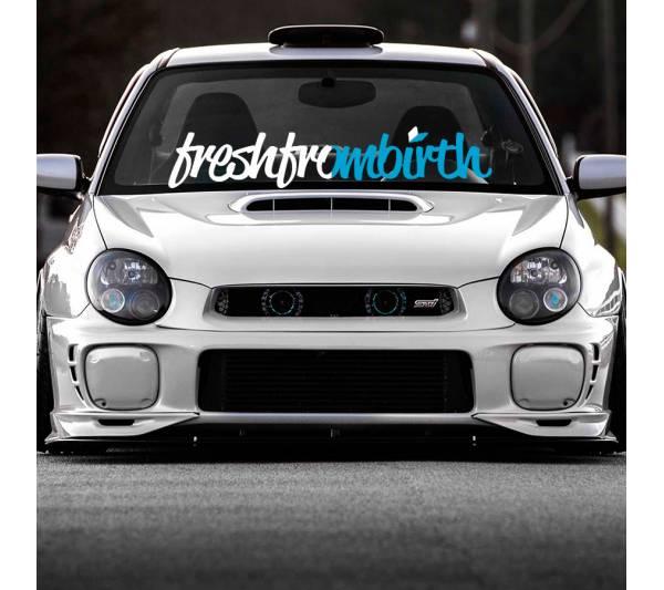 Fresh From Birth Freshfrombirth Logo JDM Low Stance Tuning Rising Racing Sun Japan Car Vinyl Sticker Decal