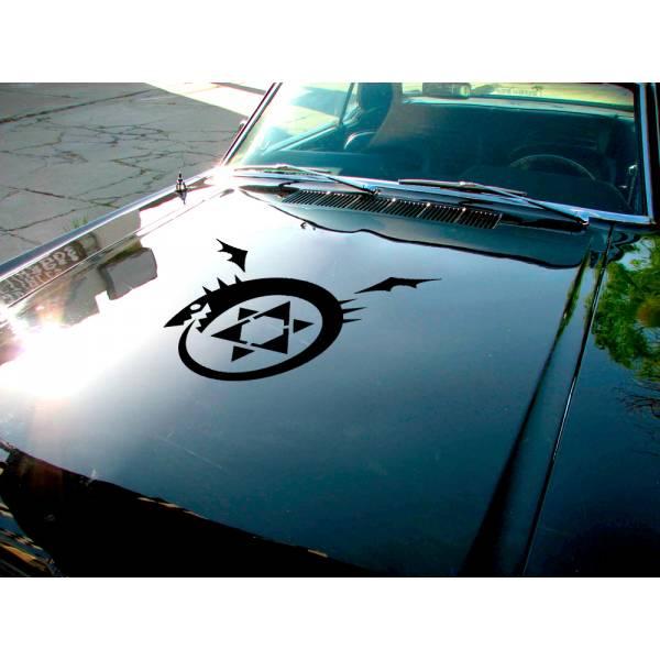 Fullmetal Alchemist Homunculus Sign Hood Envy Lust Pride Ed Al Elric Anime Manga Car Vinyl Sticker Decal>