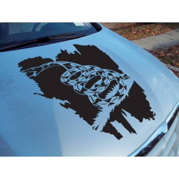 Hood Gadsden Flag USA Snake Don't Tread Me South Rebel Vinyl Decal Car Any Color>