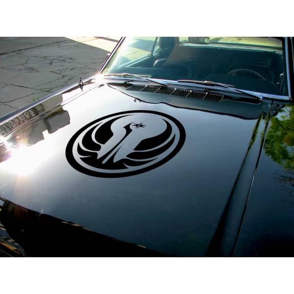 Hood Galactic Republic Luke Skywalker Darth Force Car Vinyl Sticker Decal>
