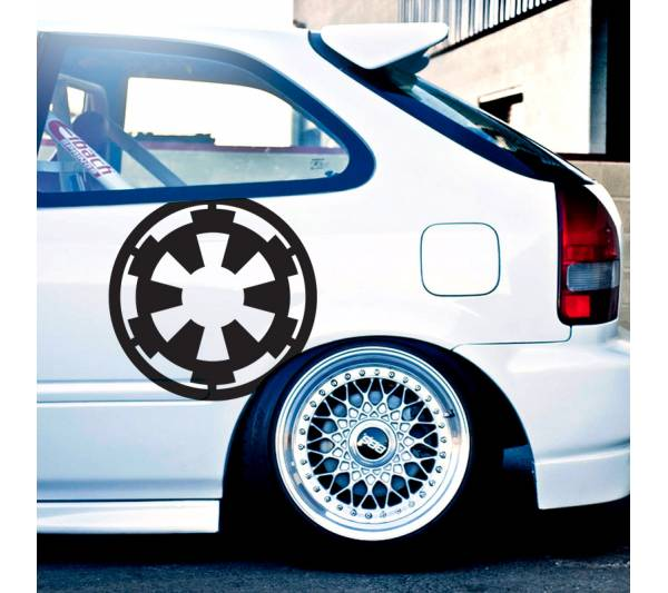"2x Pair 18""x18"" Galactic Empire Logo Star Wars Darth Dark Force Car Vinyl Sticker Decal"