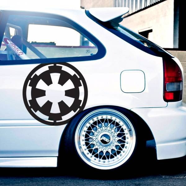 "2x Pair 18""x18"" Galactic Empire Stormtrooper Darth Dark Side Force Car Vinyl Sticker Decal>"