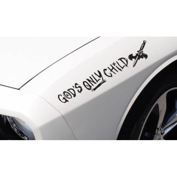 2x Joker God's Only Child Bad Suicide Squad DC Evil Side Suicide Batman Gotham Car Sticker Decal