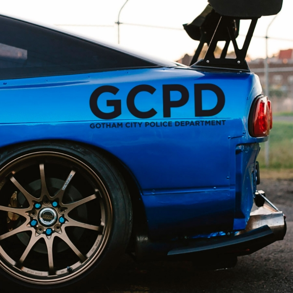 2x Pair GCPD Gotham City Police Department James Jim Gordon Detective Bruce Wayne Enterprises Car Vinyl Sticker Decal>