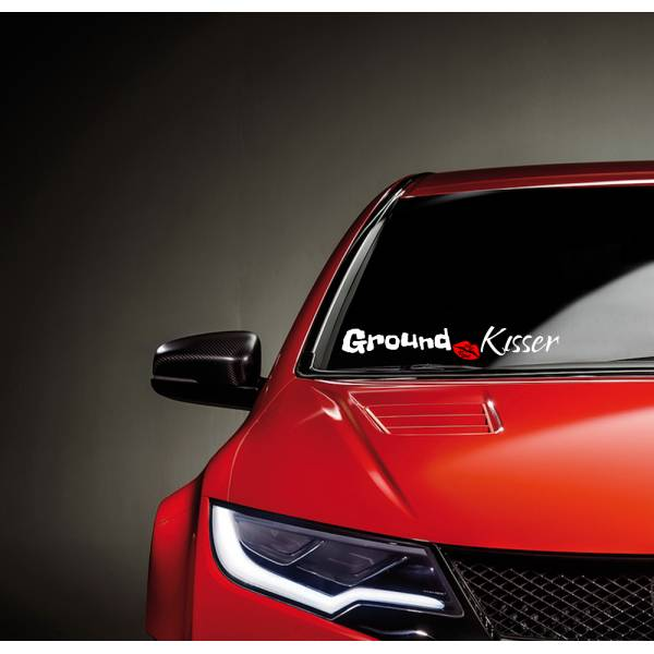 Ground Kisser Low Lips Windshield Show Stance Nation Stay Loyal JDM Royal Event Vinyl Decal>
