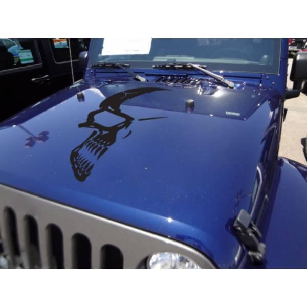 Half Skull Shade Tribal Graphics Military Decal Car Truck Van Hood Vinyl Sticker>