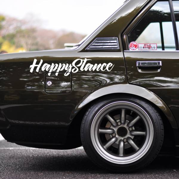 Windshield JDM Happy Stance v2 Logo Simply Clean Street Drift Rising Sun Japan JDM Car Vinyl Sticker Decal