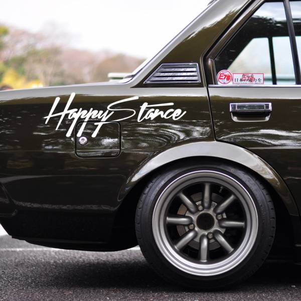 Windshield JDM Happy Stance v4 Logo Simply Clean Street Drift Rising Sun Japan JDM Car Vinyl Sticker Decal