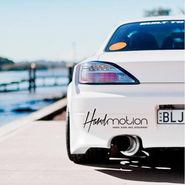 Hard Motion v2 Race Development Logo JDM Honda Acura Banner Car Vinyl Sticker Decal