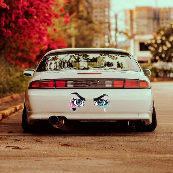 Harley Quinn Eyes Printed Woman Suicide Squad Joker Hahaha DC Bad Girl Superhero Comics Car Vinyl Sticker Decal