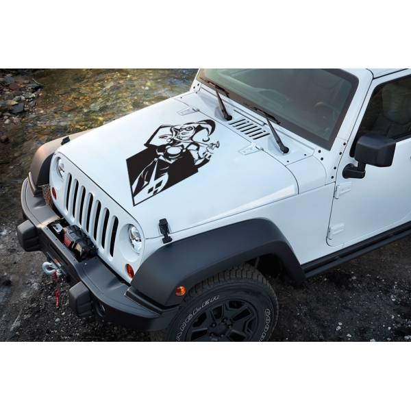 Daddys Lil Monster Puddin Suicide Comic Sexy Hummer Bad Girl Woman Superhero Decal Hood Vinyl Sticker>