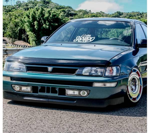 Hatch Society v2 Hatchback Honda Civic Banner Drift Racing Low Stance Slammed JDM Windshield Car Vinyl Sticker Decal