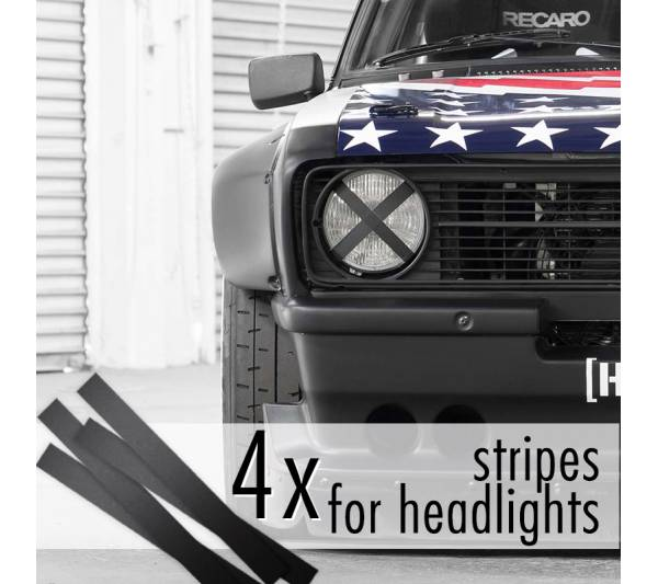 4x Headlights Stripes JDM Low Event Hoonigan Stance Racing Drift Car Vinyl Sticker Decal