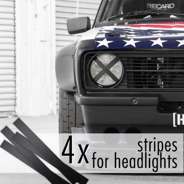 4x Headlights Stripes JDM Low Event Hoonigan Stance Racing Drift Car Vinyl Sticker Decal>