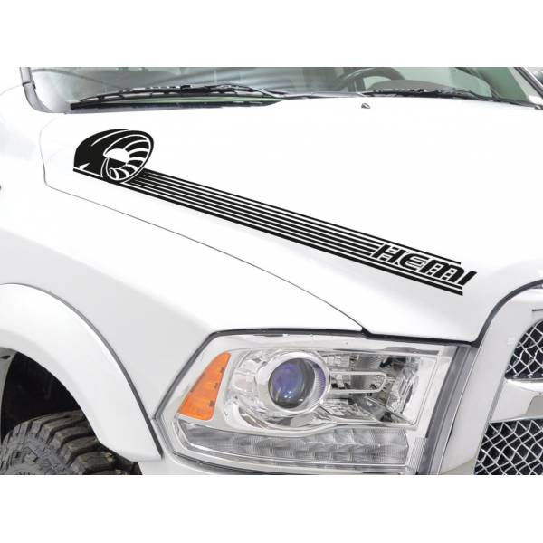 2x Side Stripes Off-Road 4x4 Truck Fender Hood Vinyl Sticker Decal fits to Dodge Ram 1500 2500 3500 	>