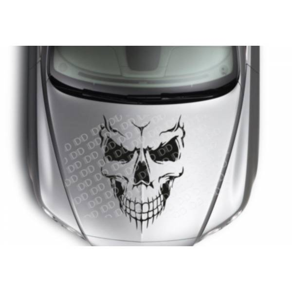 Large Skull Hot Rod Rock Punk Tribal Car Truck Hood Body Vinyl Sticker Decal >