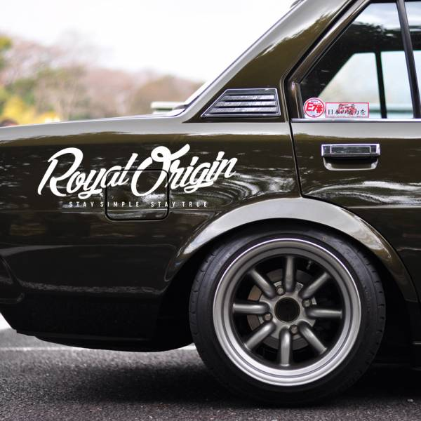 Hoodrat Staff Royal Origin v4 Stay Simple True Clean Windshiled Banner JDM Stance Low Racing Event Car Vinyl Sticker Decal >