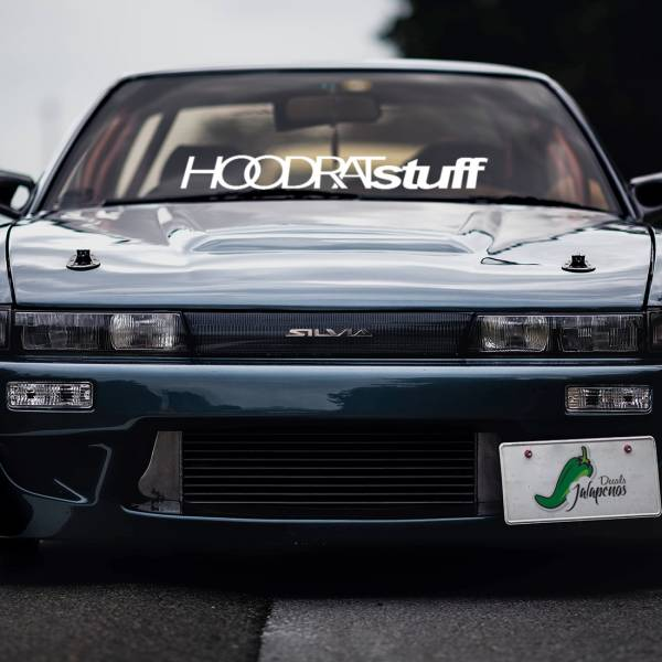 Hoodrat Staff Royal Origin v2 Windshiled Banner Stripe JDM Stance Low Slammed Drift Racing Event Car Vinyl Sticker Decal