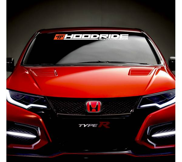 Hoodride SA Windshield Show Event v1 JDM Racing  Japan Daily Drift Low Stance Vinyl Sticker Decal