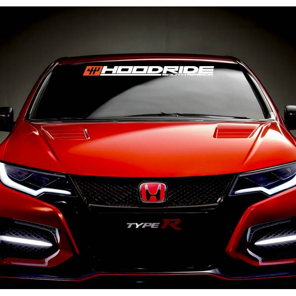 Hoodride SA Windshield Show Event v1 JDM Racing Japan Daily Drift Low Stance Vinyl Sticker Decal >