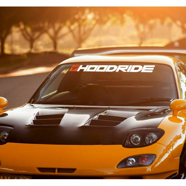 Hoodride SA Windshield Show Event v2 JDM Racing  Japan Daily Drift Low Stance Vinyl Sticker Decal