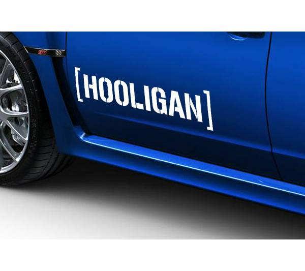 2x Hooligan JDM Japan Stance Low Lifestyle Funny Hoon Car Vinyl Sticker Decal