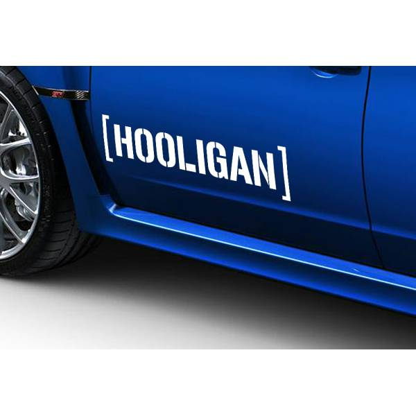 2x Hooligan JDM Japan Stance Low Lifestyle Funny Hoon Car Vinyl Sticker Decal >
