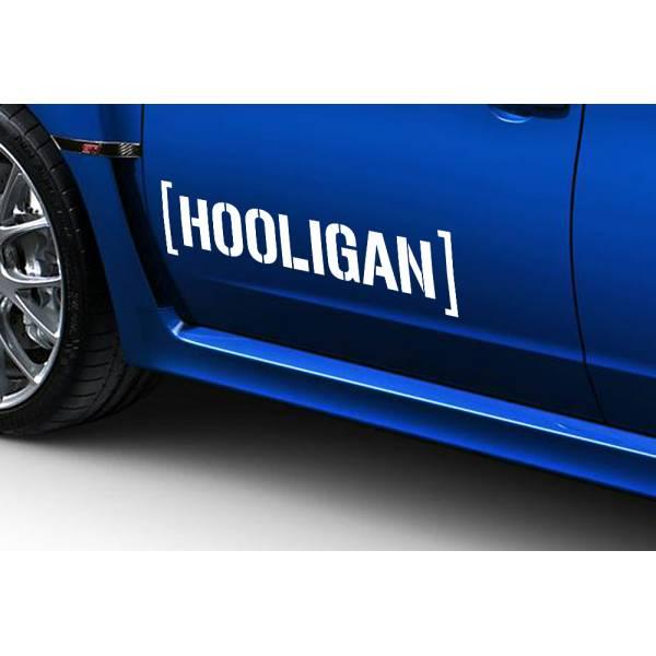 2x Hooligan JDM Japan Stance Low Lifestyle Funny Hoon Car Vinyl Sticker Decal