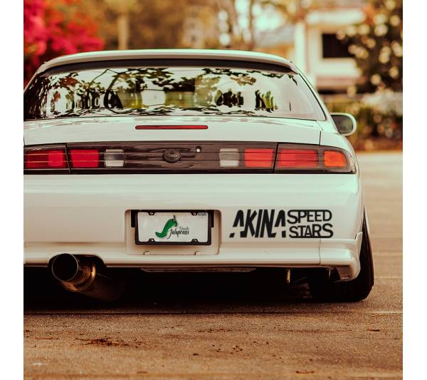 2x Akina Speed Stars Team Initial D Fujiwara  JDM Anime Racing Nissan Silvia S13 180SX Toyota Corolla Levin Sticker Decal