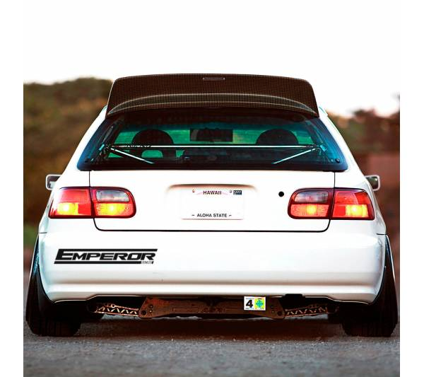 2x Emperor Team v1 Kyoichi Sudo Initial D Irohazaka Fujiwara JDM Anime Racing Mitsubishi Lancer Evolution Sticker Decal