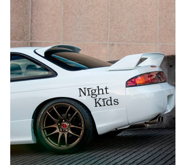 2x Myogi Night Kids Team v1 Initial D Nissan Skyline GT-R Honda Civic SiR JDM Anime Manga Racing Sticker Decal
