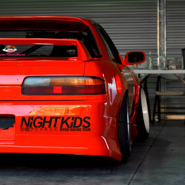2x Myogi Night Kids Team v2 Initial D Nissan Skyline GT-R Honda Civic SiR JDM Anime Manga Racing Sticker Decal