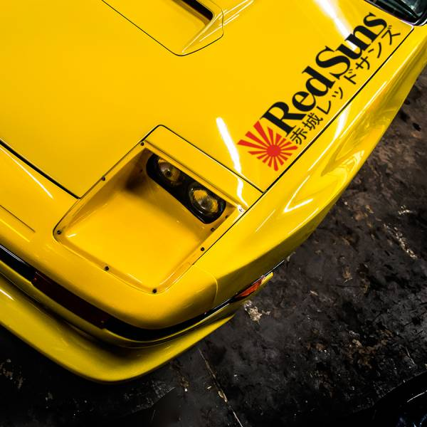 2x RedSuns Team Akagi v2 Rising Sun Initial D  Silvia S14  RX-7 JDM Anime Manga Racing Sticker Decal