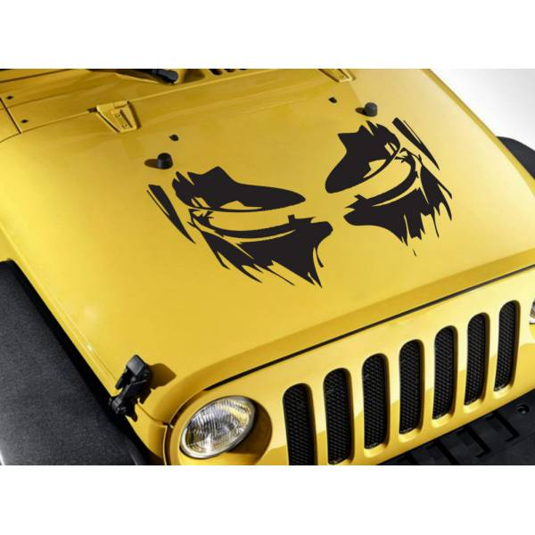 Tony Stark Helmet Eyes Blood Hood Industries Superhero Comics Car Vinyl Sticker Decal>