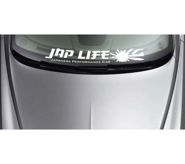 Japan Life Stance Rising Sun Performance Strip JDM Car Windshield Vinyl Decal