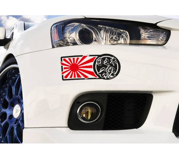 Japan Spirit Kanji JDM Made Rising Sun Low Flush Window Body Vinyl Sticker Decal