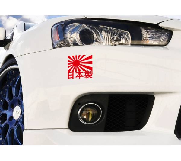 2x Japan Made JDM Turbo Race Stance Low Drift Window Body Vinyl Sticker Decal