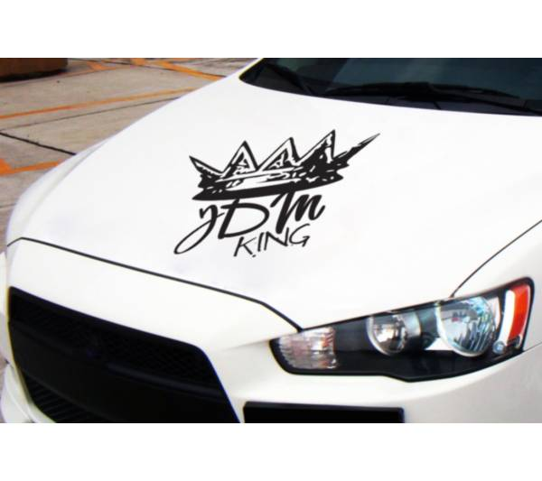 JDM King Hood Royal Fun Low Flush Stance Japan Rising Car Vinyl Sticker Decal