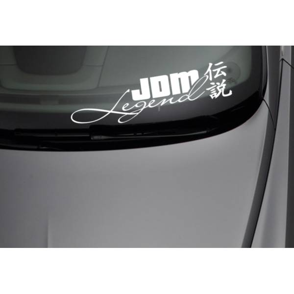 JDM Legend Low Stance Japan Kanji Performance Car Windshield Vinyl Sticker Decal >