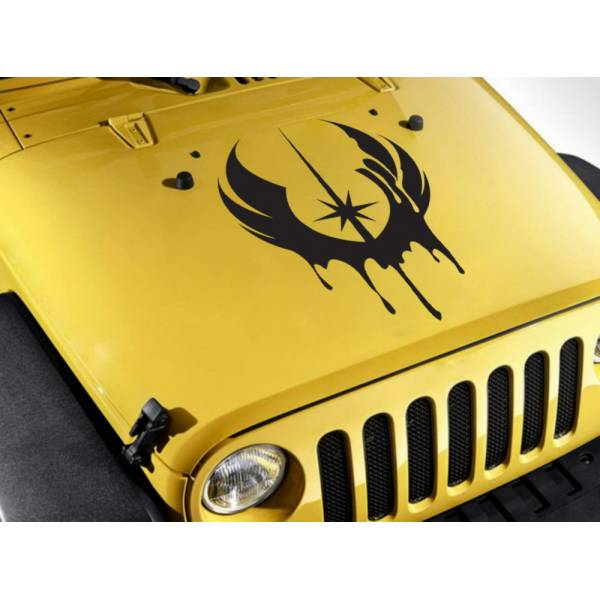 Hood Jedi Order Blood Luke Leia Skywalker Resistance Rebel Alliance Force Car Vinyl Sticker Decal>