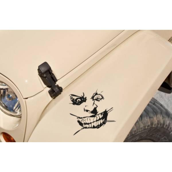 Joker Smile Serious Batman Gotham Comics Fun Awesome Decal Car Vinyl Sticker