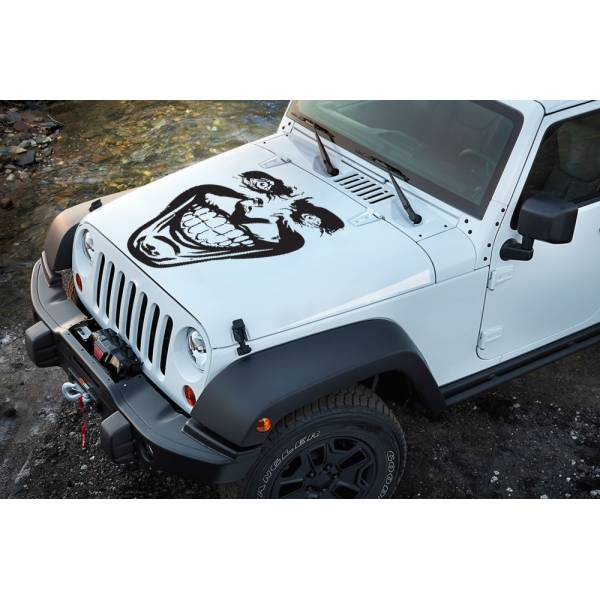 Hahaha Why So Serious Smile Suicide Evil Bad Superhero Decal Hood Vinyl Sticker>