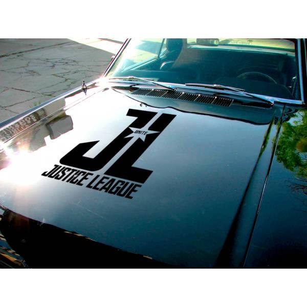 Justice League Hood v2  Movie Bruce Wayne Flash Diana Prince Arthur Curry Superhero  Comic Car Hood Vinyl Sticker Decal>